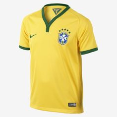 2013/14 Brasil CBF Stadium Short-Sleeve (8y-15y) Kids' Football Shirt
