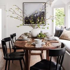 Dining Table Sale, Dining Nook, Dining Room Design, Large Dining Room Table, Kitchen Dining, Natural Wood Dining Table, Wood Table, Kitchen Nook, Over Dining Table Lighting