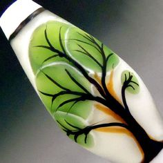 'JC Herrell Glass' - Graphic Bubble Tree Illustration, Lampwork Glass Focal Bead #Lampwork  on eBay ♥≻★≺♥