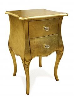 Large View of 'Alice' 2 Drawer Bedside Cabinet Gold Floral Furniture, French Furniture, Shabby Chic Furniture, Mirrored Nightstand, Bedside Cabinet, Nightstands, Bedside Lamp, Mint Dresser, Interior Concept