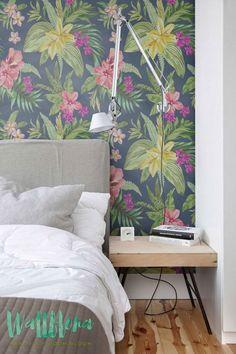 Precioso papel pintado tropical
