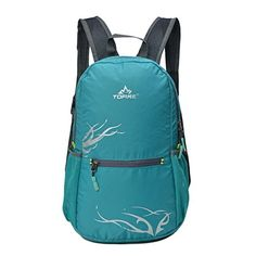TOFINE Water Resistant Motorcycle Packable Foldable Traveling Backpack Lake Green 15 Liter >>> Continue to the product at the image link.