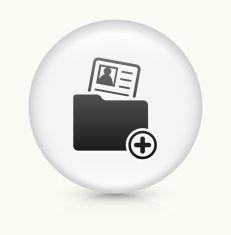 Profile Folder icon on white round vector button vector art illustration