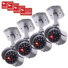 VideoSecu 4 x Dummy Security Camera Fake Infrared LEDs Flashing Light Home Surveillance 1QU from VideoSecu $25.00