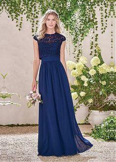 Delicate Lace & Chiffon Jewel Neckline A-line Bridesmaid Dresses With Detachable Jacket