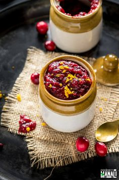 Festive Cranberry Orange Chutney made easy in the Instant Pot. This spiced chutney would be a great addition to your Thanksgiving menu. Vegan & Gluten-free.