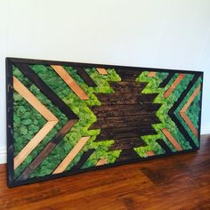 Starburst Moss Wall Art