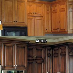 Glaze on kitchen cabinets