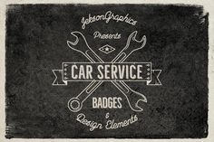 10 Car Service Badges and Vector Elements for Premium Members