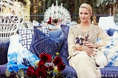 The design-loving actress throws a fête to celebrate the season (and her new outdoor space).