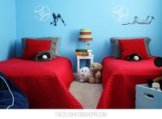 Boy Bedroom Idea: Easy Personalized Baseball Vinyl Decals + $100 Giveaway