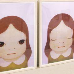 絵画販売eギャラリー・オークション|関西の画商が選んだ優良な絵画を販売 » 奈良美智/Cosmic Girl(Eyes Open)&Cosmic Girl(Eyes Closed)