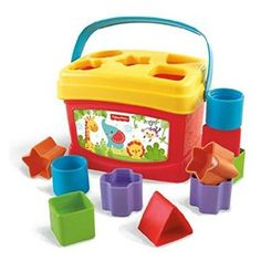 The Fisher Price Baby's First Blocks has ten bright blocks that introduce baby to shape-sorting fun!
