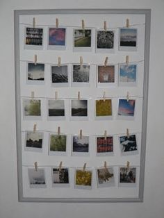 Great way to display Polaroids or any photos!