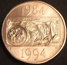"""**1994 Scarcer Australian """"Decade"""" $1 coin """"S"""" mint mark ** http://united-states-tourist.info/it/si/?query=181901738824…"""