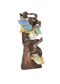 """Thierry Vendome. The """"Chips"""" Pendant with opals. © Thierry Vendome."""