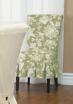 Verona Linen Midsize Dining Chair Slipcover with Buttons Dining Chair Slipcovers, Chair Upholstery, Dining Chairs, Verona, Decoration, Accent Chairs, New Homes, Blanket, Bed