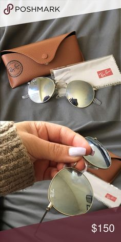 Ray-Ban Sunglasses Silver rounds. No scratches Ray-Ban Accessories Sunglasses