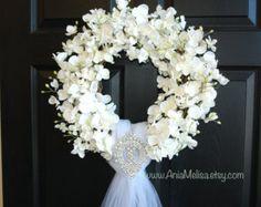 spring wreath wedding wreaths front door wreaths outdoor by aniamelisa   Etsy
