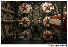Russian submarine torpedo room