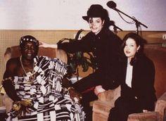 Michael Jackson, Lisa Marie Presley, and King Nana Amon Ndoufou IV