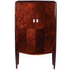 Fine Art Deco two-door mahogany cabinet Jules Leleu, with a sycamore interior prev      Fine Art Deco Two-Door Cabinet by Jules Leleu thu...