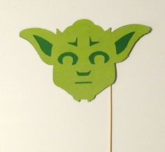 Photo Booth Props Yoda Star Wars Inspired by PimpYourParty on Etsy