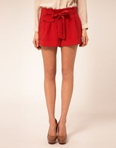 ASOS Belted Shorts With Turn Up