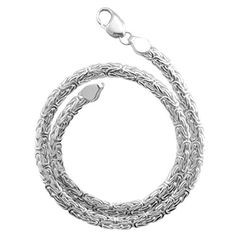 Byzantine Necklace 6mm Thick Solid 925 Sterling Silver Chain 16182030 Inches 20 Inches ** See this great product.Note:It is affiliate link to Amazon. #likealways