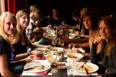 Enjoying a pre-party dinner at restaurant H41, #openingorion