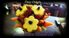 Daisy Delight Chocolate Dipped Fruit, Daisy, Pudding, Sweet, Desserts, Food, Flan, Meal, Bellis Perennis