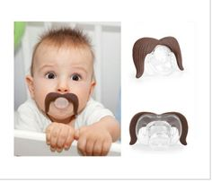 Here we have The Cowboy Stachifier, a funny item for babies. This unique pacifier gives your baby the old time cowboy mustache ...