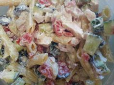 Tzatsiki Pasta and Chicken Salad