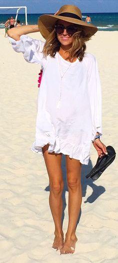 White Ruffle Beach Inspiration Dress by Hello Fashion