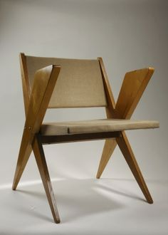 Jan Kurzątkowski; 'Bull' Chair, 1960s.