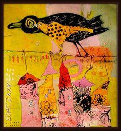 Elke Trittel acrylic on paper 25x25cm
