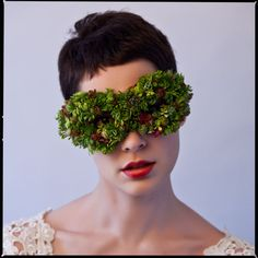 Cool floral eye mask created by Francoise Weeks (European Floral Design).