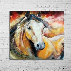 cuadros de caballos pintados en acrilico - Buscar con Google