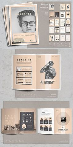 53 Ideas For Design Layout Brochure Booklet Ppt Design, Buch Design, Design Poster, Booklet Design Layout, Page Layout, Company Brochure Design, Graphic Design Brochure, Portfolio Design, Portfolio Ideas