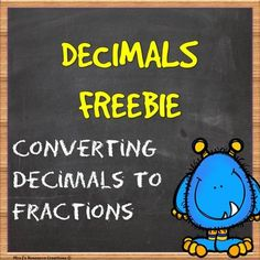 Decimals, Decimals Worksheet Freebie!Students will need to convert the decimals into fractions to find out which character is hiding the donut! See if they can get the character correct by using their math skills to eliminate the suspect pictures. Answer sheet included!This is a new style of worksheet I am trying out, so I would really appreciate your feedback and thoughts on it.You may also be interested in some of my other products listed below:Decimals Guided Lessons and Worksheet PackMath Pr...