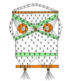 Macrame Owl. Step-by-step instruction and scheme