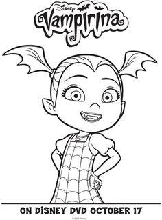 Disney Junior Vampirina Coloring Pages + DVD Giveaway