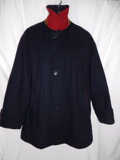 ARI Soho Vintage Boston Wool Chasmere Coat quilted lining Made in Italy Men's L #ARISoho #Quilted