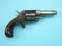 Forehand & Wadsworth Bull Dog Pocket Revolver Serial number 689; .38 rimfire, 5-shot, BULL DOG on topstrap; blued, with case-hardened hammer and trigger; varnished rosewood grips. Maker, address and patent date marking on left side of barrel.