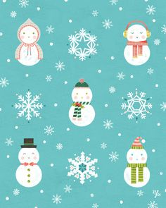 Illustrated by Yu Kito Lee: Surface Pattern: Snowman
