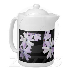 3 Purple Flowers Tea Pot ~ A lovely addition to any home with a stylish floral print.