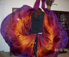 Sahariah's Killer Silk Moths Tornado 5mm Half by SilksbySahariah, $95.00