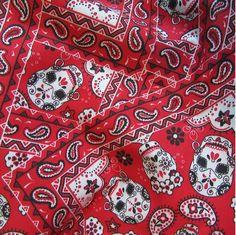 Diary of a Designer – Part 188 – by Patrick Moriarty ‹ Paisley Power ‹ Reader — WordPress.com Paisley Fabric, Paisley Print, Cotton Canvas, Cotton Fabric, Bandana Design, Mexican Skulls, Bandana Print, Kona Cotton, Purple Fashion