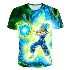 828cbeb0 2019 New Dragon Ball Z T Shirts Mens Summer 3D Print Super Saiyan Goku  Black Zamasu Vegeta