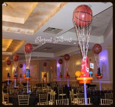 Elegant Balloons, located in Pearl River, provides fabulous balloon decorations to the New York and New Jersey area. We specialize in centerpieces and bar and bat mitzvah unique creations. Sports Centerpieces, Fiesta Decorations, Baby Shower Centerpieces, Baby Shower Favors, Baby Shower Themes, Baby Shower Decorations, Shower Ideas, Table Decorations, Basketball Party